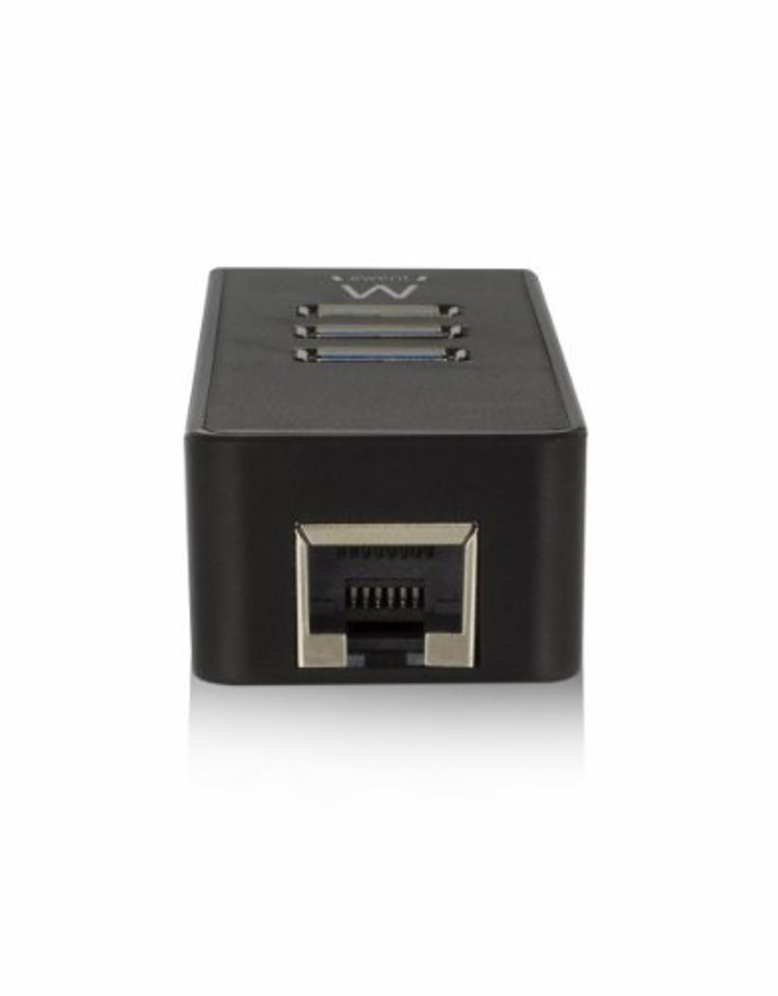 USB 3.1 Gen 1 (USB 3.0) Hub 3 port with Gigabit netw.