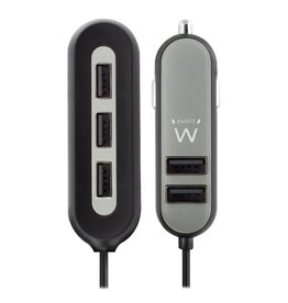 EW1355 oplader voor mobiele apparatuur Auto Zwart, Grijs