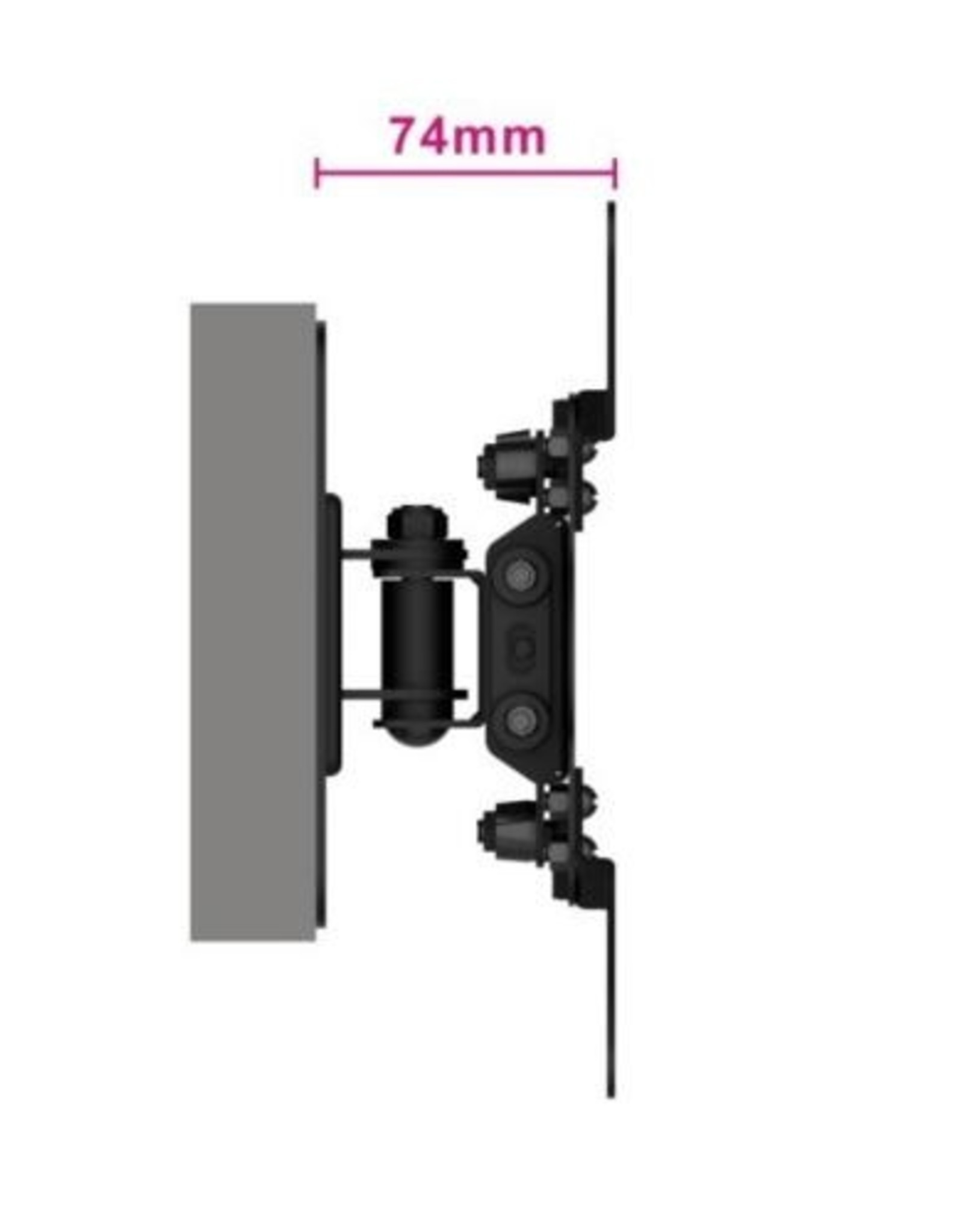 "Easy Turn TV wall mount M, 13"" - 42"""