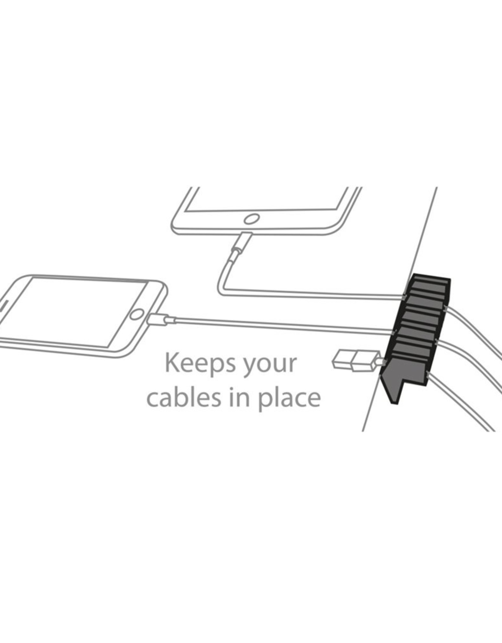 Desktop cable rack (2 x black)