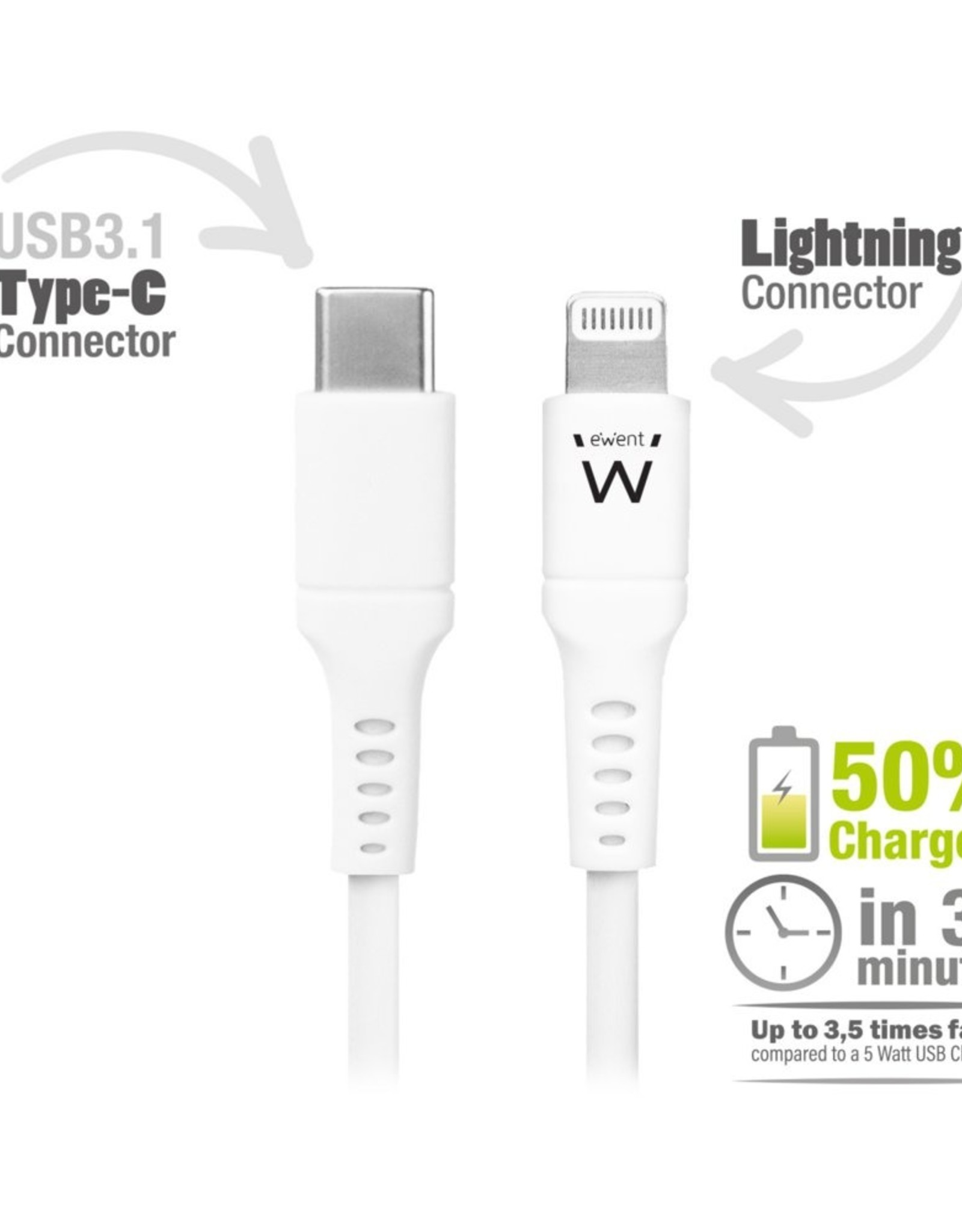 USB-C Lightning Cable for Apple 1.0M