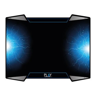 PL3340 muismat Zwart, Blauw, Zilver Game-muismat