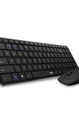 9300M Wireless Keyboard + Mouse Desktopset - Black