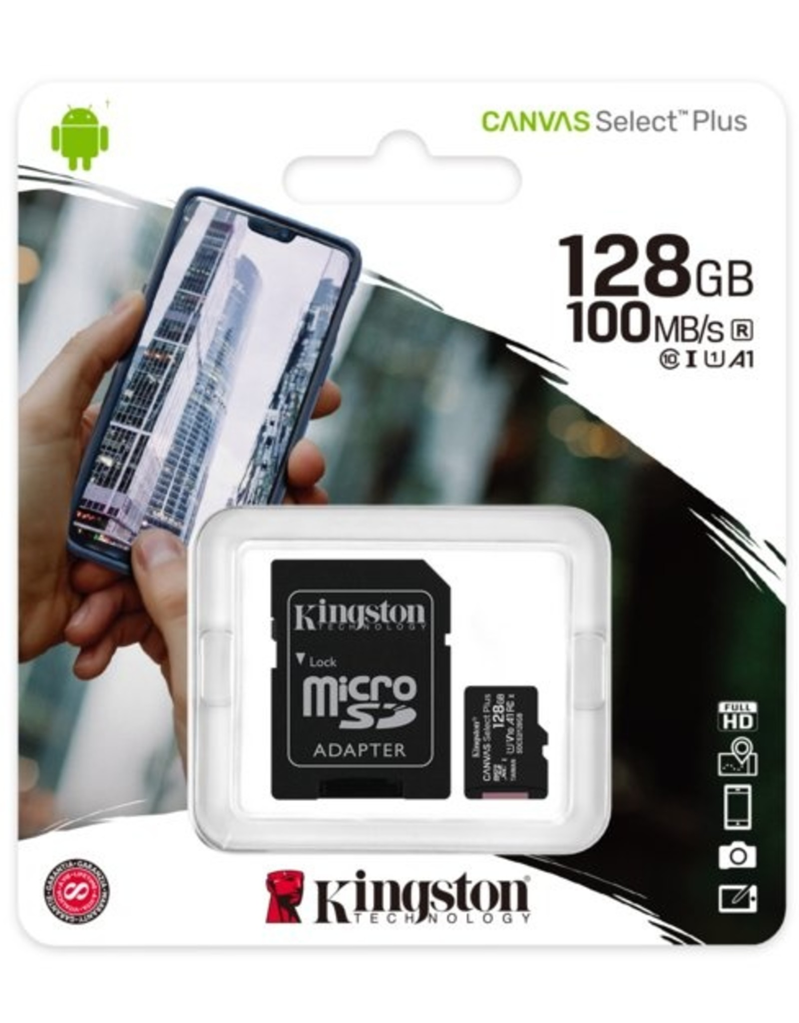 SD  Micro SDXC Technology Canvas Select Plus 128 GB