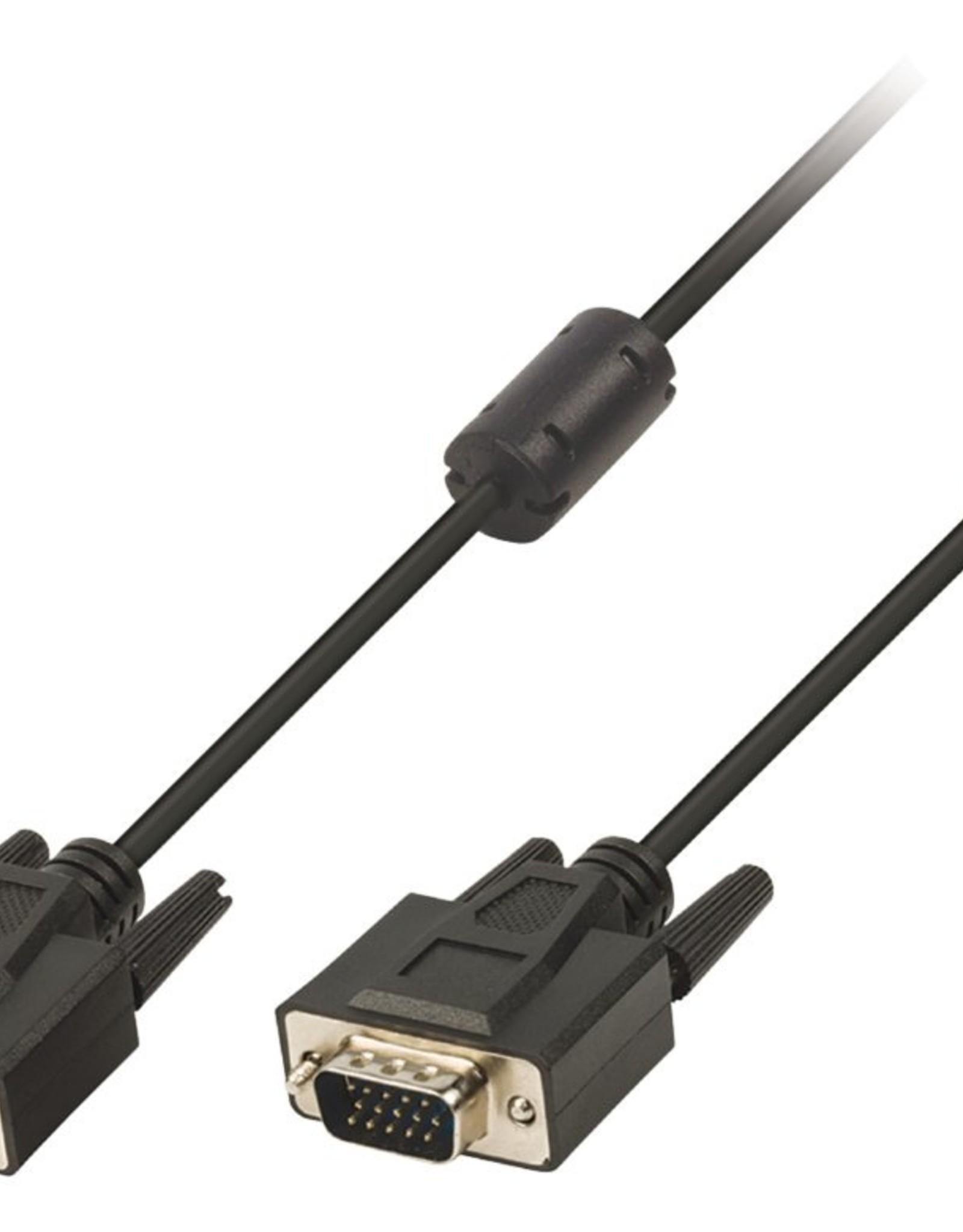 Kabel VGA kabel VGA male - VGA male 10,0 m zwart