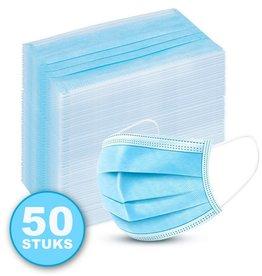 3-Laags mondkapje 50pack, niet medisch