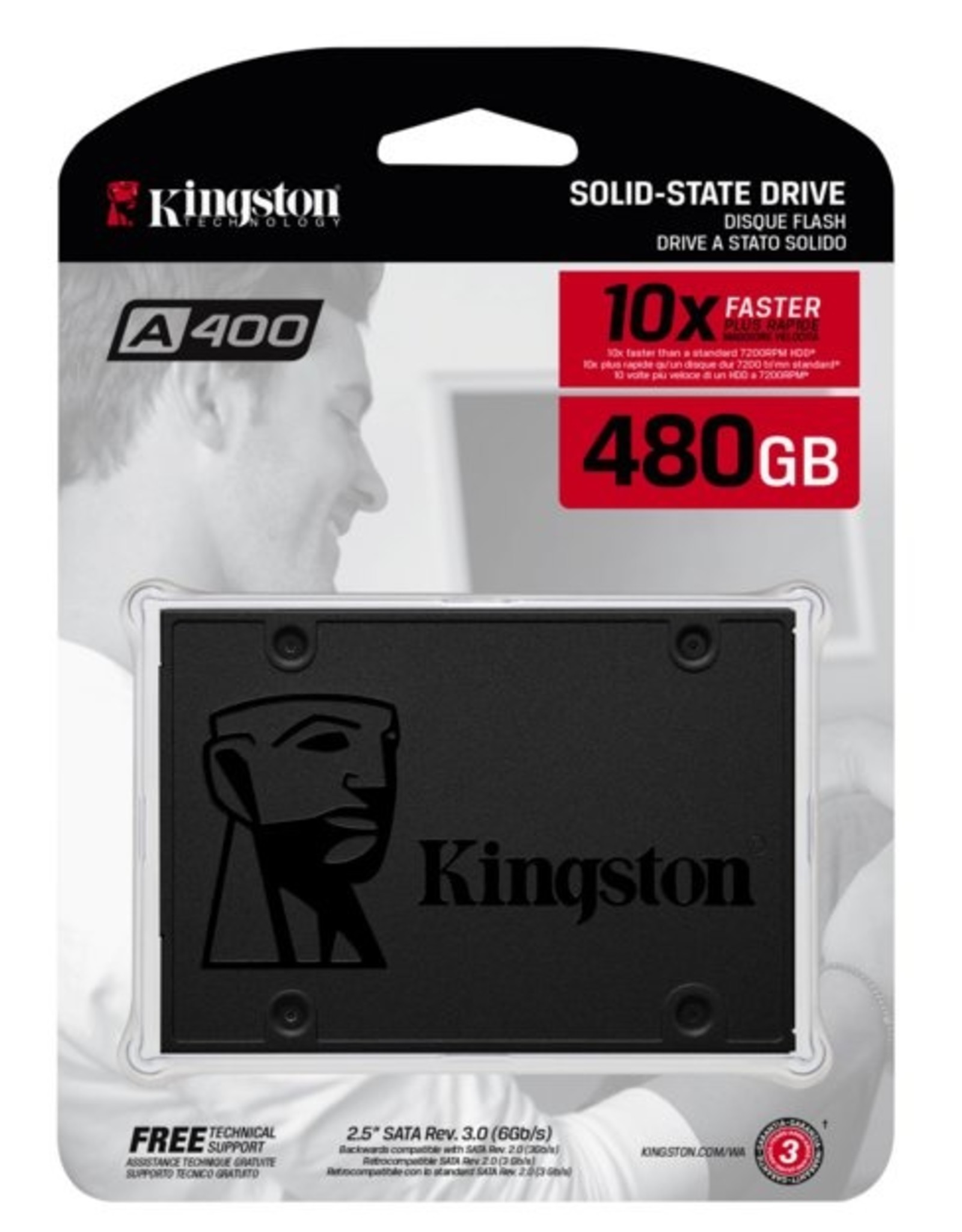 SSD A400 480GB TLC 500MB/s read 450/MB/s