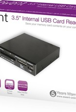 USB 2.0Card Reader All in1 internal black extra 2color front