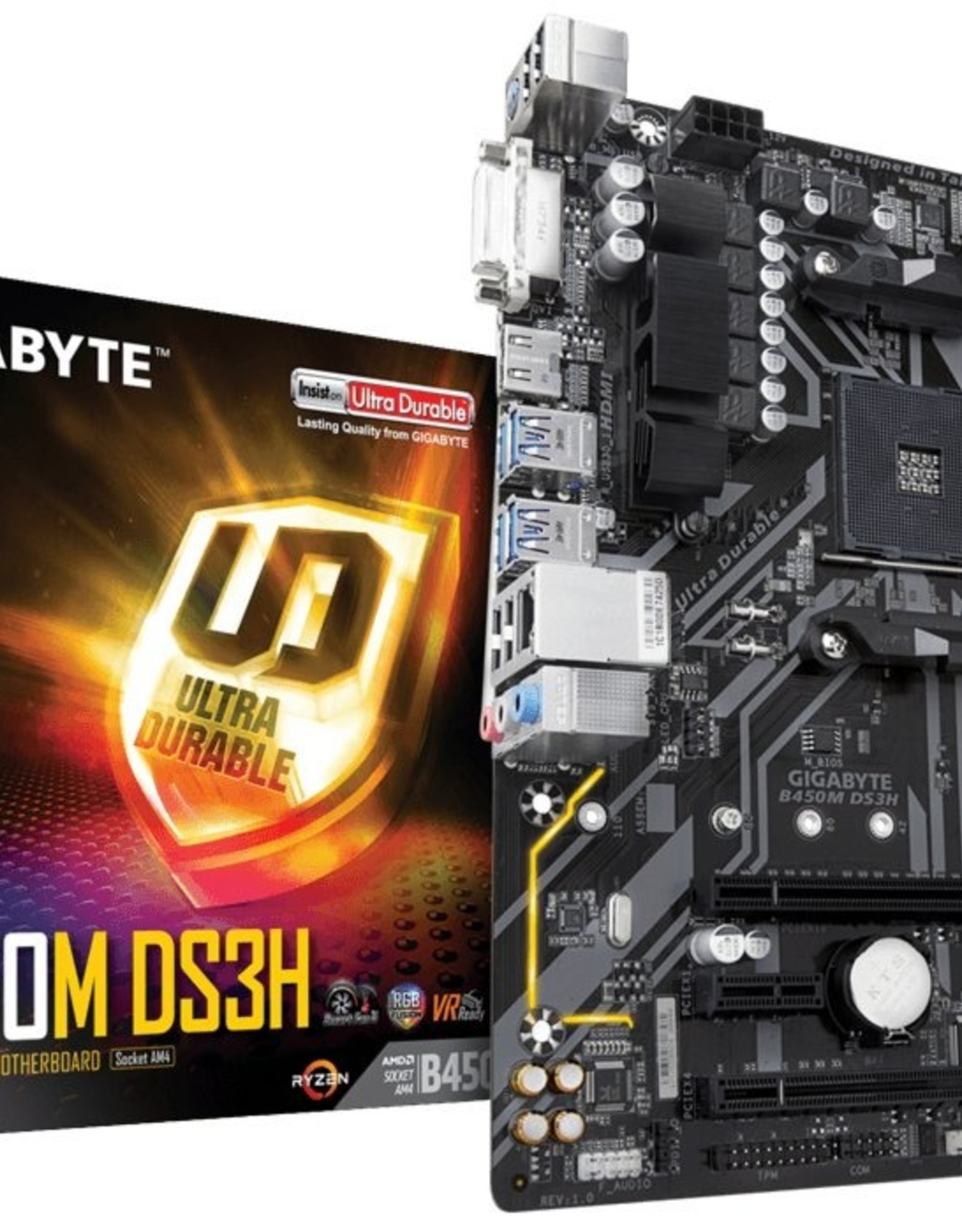 MB  B450M DS3H AM4 Micro ATX AMD B450