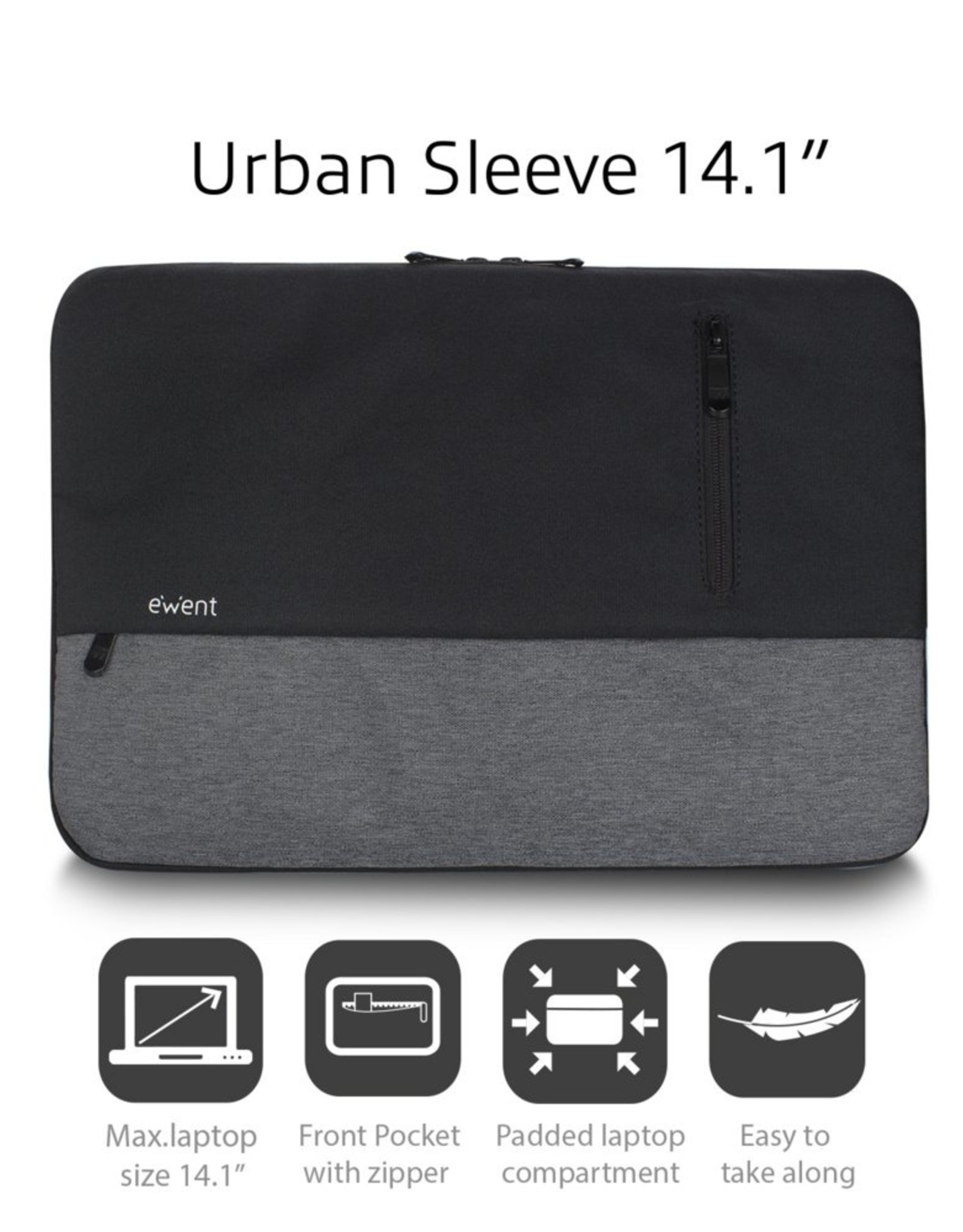 """Ewen tUrban Sleeve 14.1"""", BLACK/GREY"""