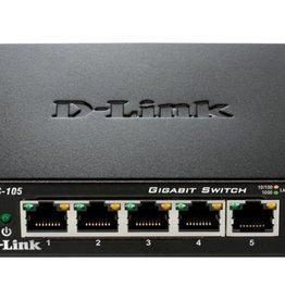 D-Link DGS-105 netwerk-switch Unmanaged Zwart