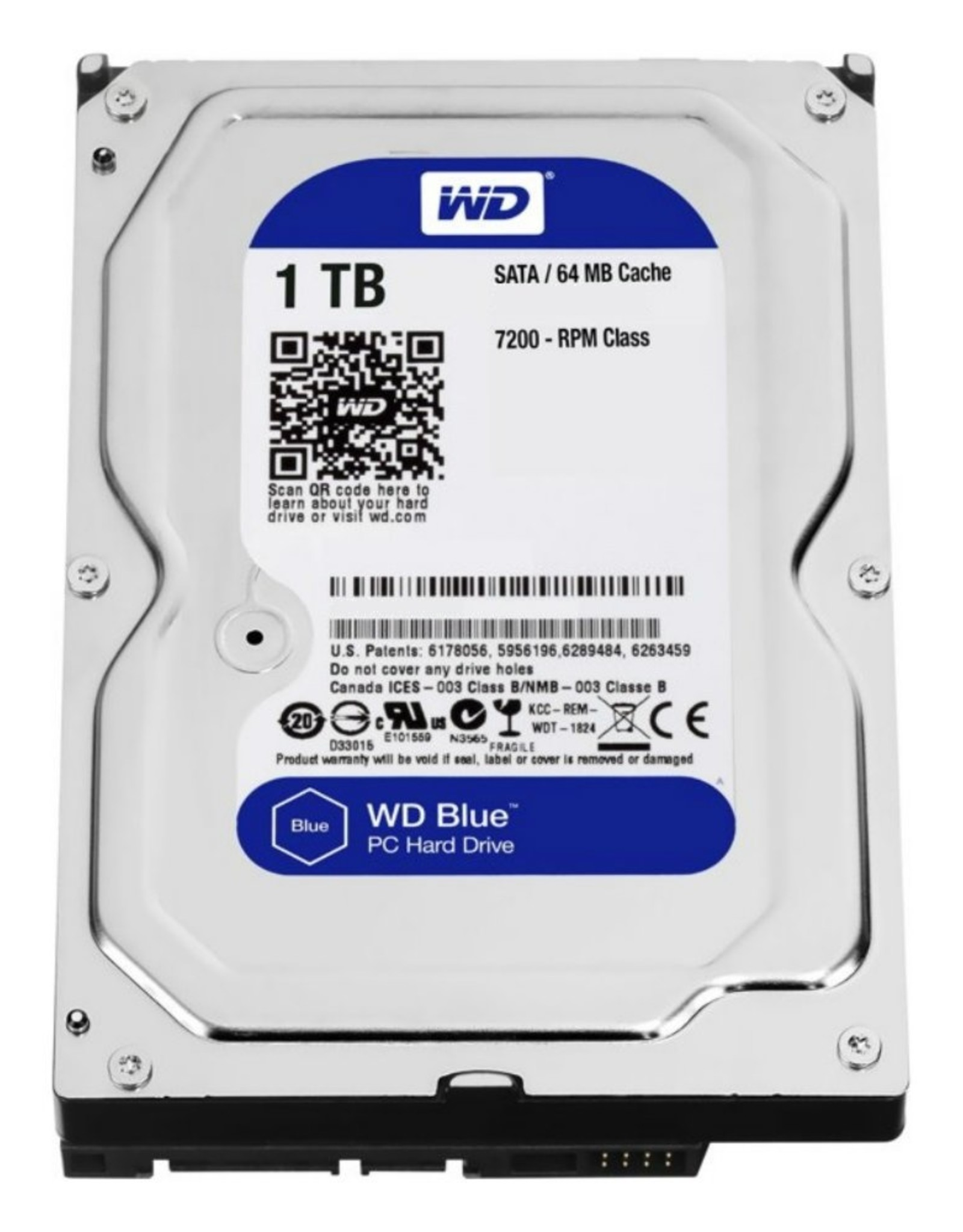 HDD WD BLUE™ 1TB  - 3.5inch- 5400RPM - 64MB - SATA3