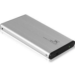 """EW7041 behuizing voor opslagstations 2.5"""" Aluminium, Zwart Stroomvoorziening via USB"""
