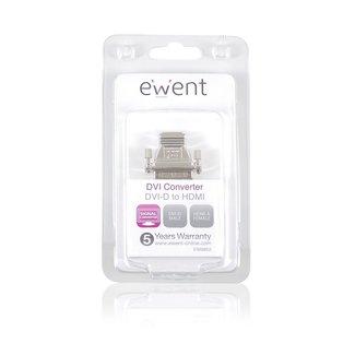 EW9852 kabeladapter/verloopstukje DVI-D HDMI Zilver