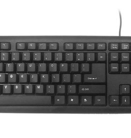Gembird KB-U-103 toetsenbord USB Amerikaans Engels Zwart