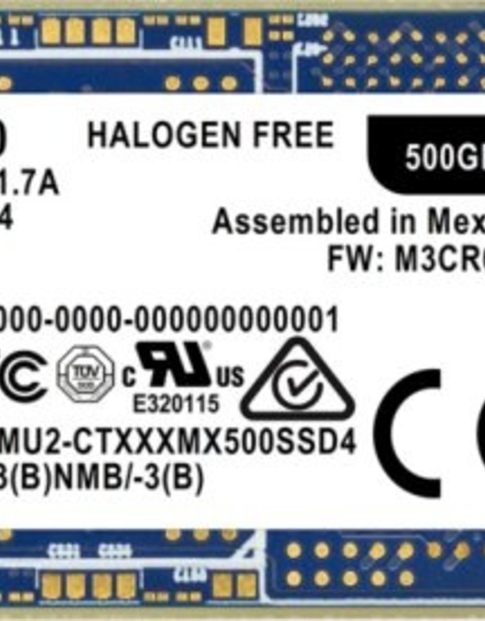 SSD  MX500 m.2 500GB (2280) 560MB/s Read 510MB/s