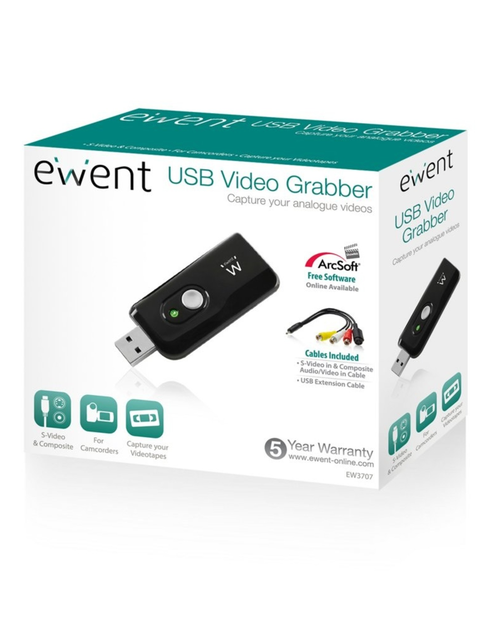 USB 2.0 Video Grabber with free software