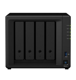 DiskStation DS418 data-opslag-server RTD1296 Ethernet LAN Mini Tower Zwart NAS