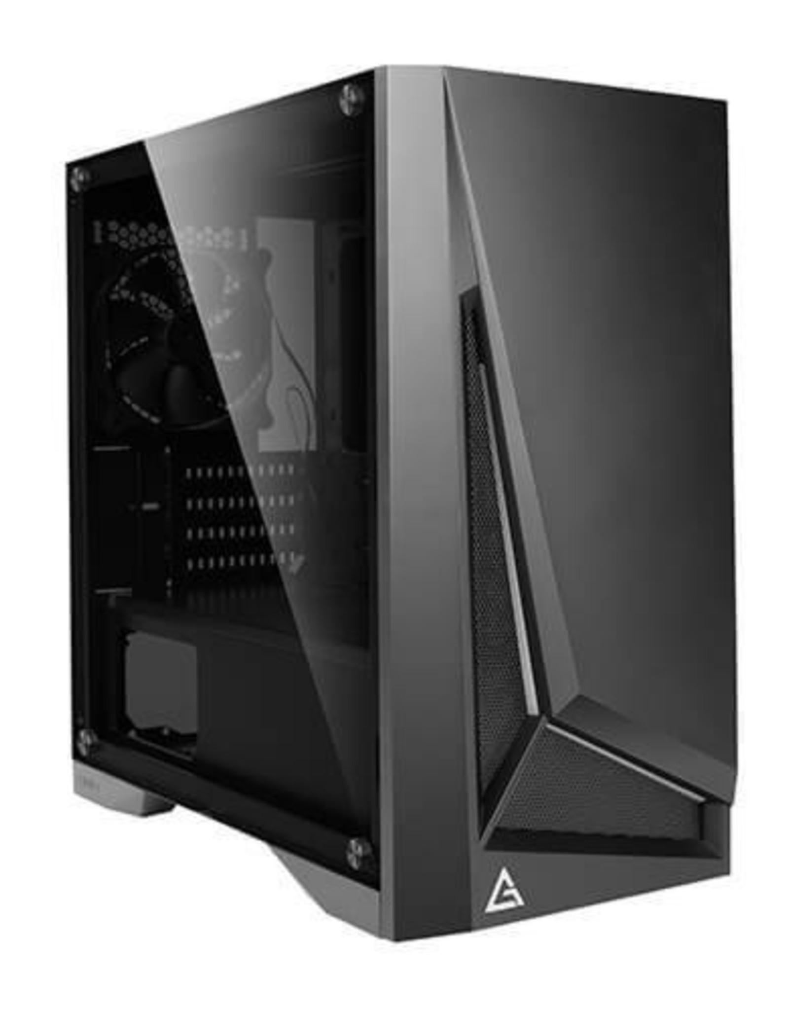 Case  DP301M Black / micro-ATX mini-ITX / Window / RGB