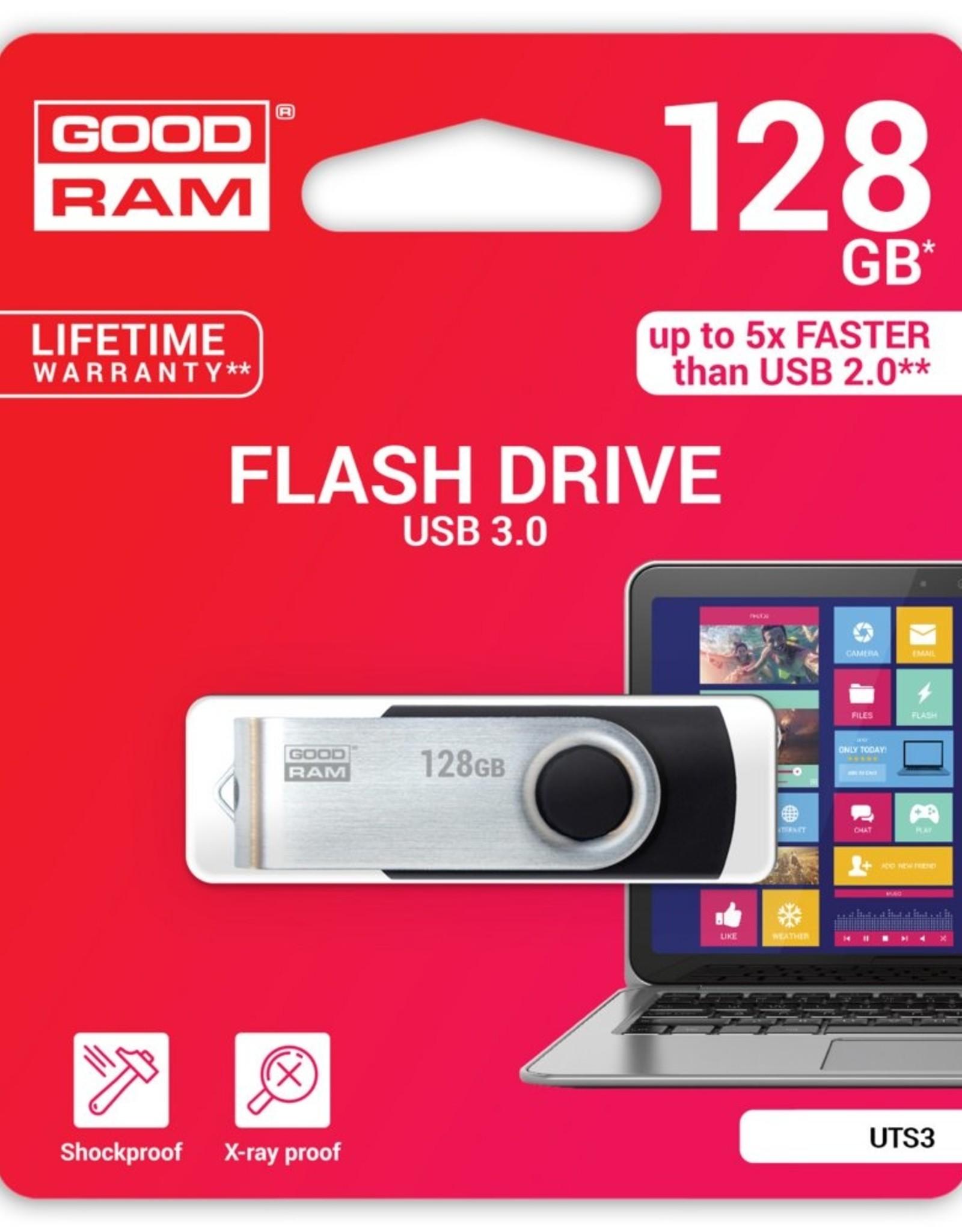 Storage  Flashdrive UTS3 128GB USB3.0 Zwart
