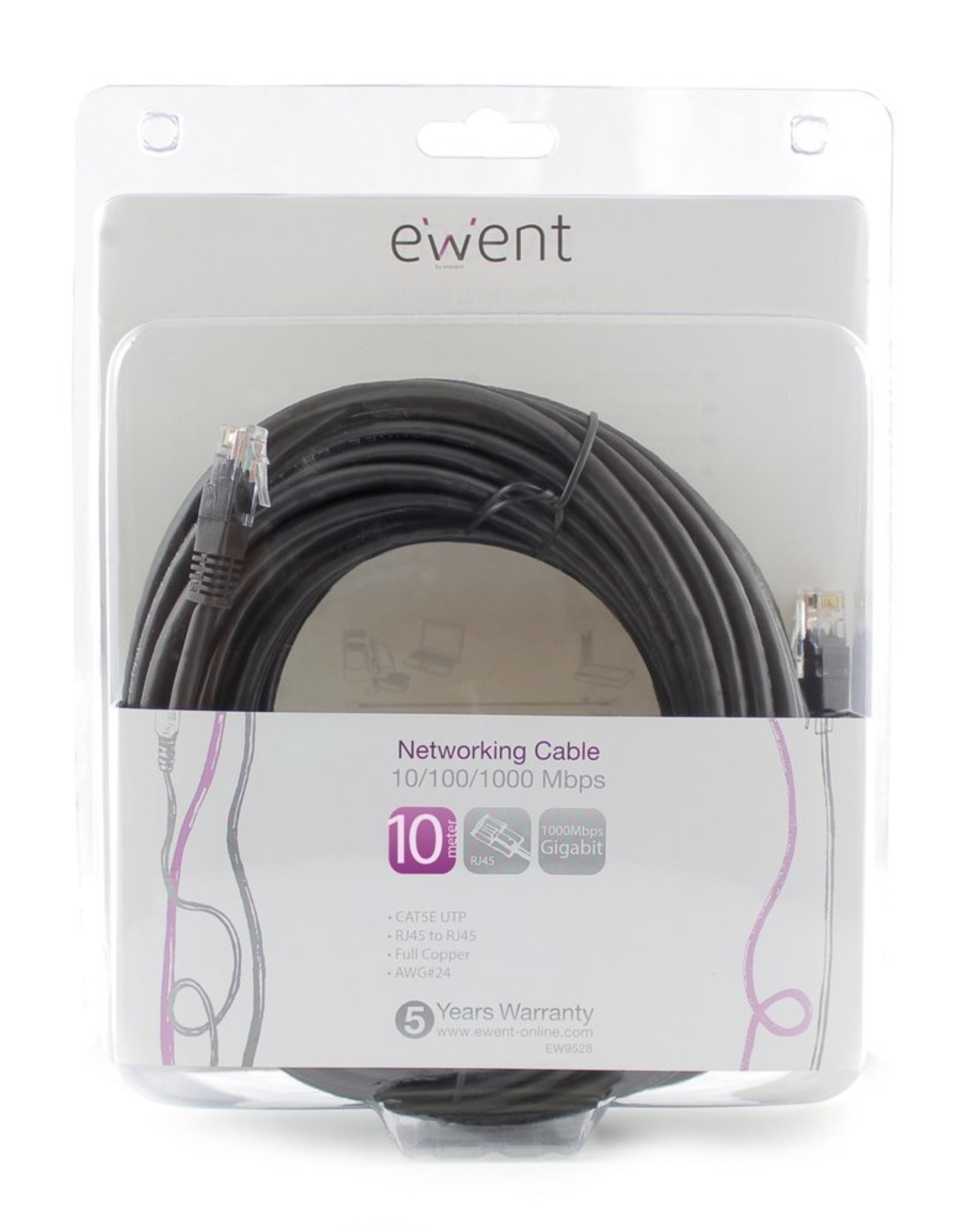 Networking Cable 10 Meter Black