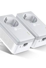 AV500 Powerline adapterkit geïntegreerd stopcontact