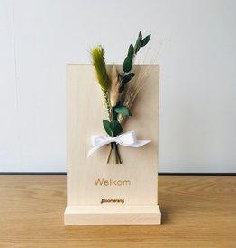 Bloemenkaart WELKOM naturel
