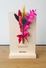 Bloemenkaart WELKOM multicolor