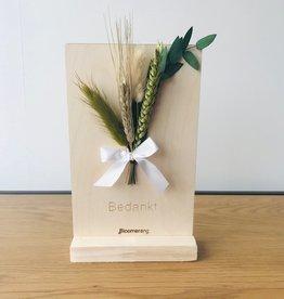 Bloemenkaart BEDANKT naturel