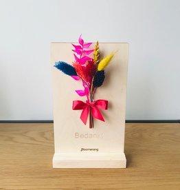 Bloemenkaart BEDANKT multicolor