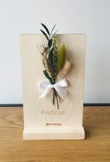 Bloemenkaart PROFICIAT naturel