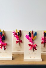 Bloemenkaart PROFICIAT  multicolor
