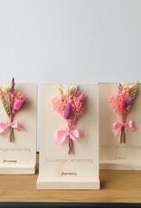 Bloemenkaart GELUKKIGE VERJAARDAG roze