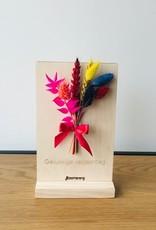 Bloemenkaart GELUKKIGE VERJAARDAG multicolor