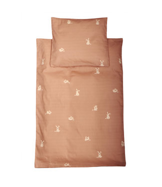 Roommate Beddengoed met konijnenprint - Bruin