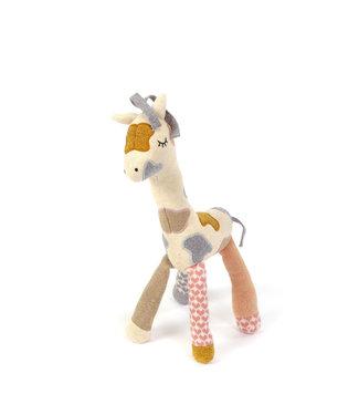 Small Stuff Knuffel rammelaar Giraffe - Perzik/Poeder