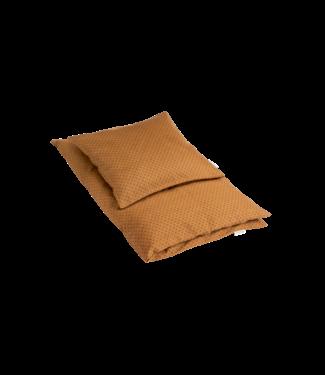 Bij Klipklap Petite Bed Linen Junior -Indian diamonds - Brown