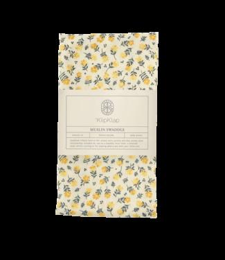 Bij Klipklap Petite Swaddle - Bloesem - licht geel