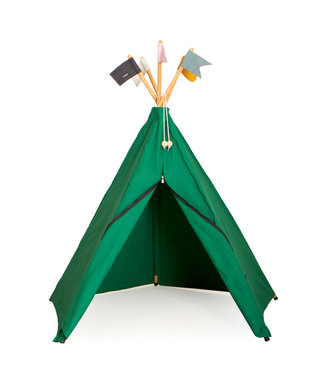 Roommate Hippie tipi play tent, green