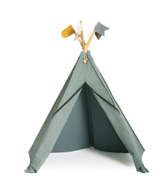 Roommate Hippie tipi play tent, sea grey