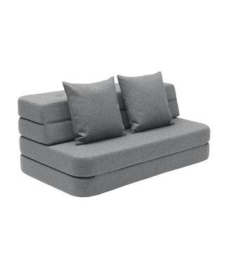 KK 3 Fold Sofa XL Soft - Blue grey w. grey