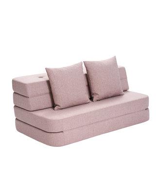 KK 3 Fold Sofa - Soft rose w. rose