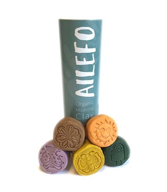Ailefo organic modeling clay, mini tube, forest colors
