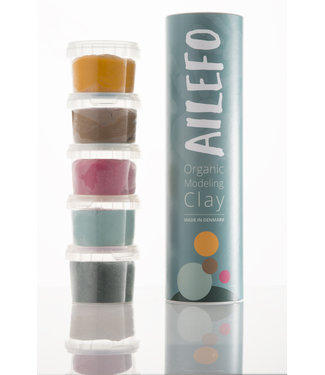 Ailefo organic modeling clay, basic colos,small tube