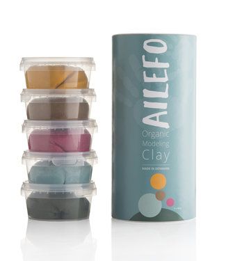 Ailefo organic modeling clay, large tube, basic colors