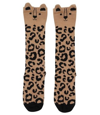 Turtledove Londen Mini leopard kniekousen - Caramel