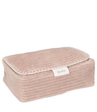 Koeka Hoes voor babydoekjes Vik - grey pink,