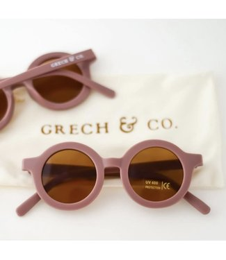 Grech & Co Duurzame zonnebril - Brul Wood/Paars