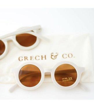 Grech & Co Duurzame zonnebril - Buff/Wit