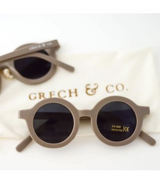 Grech & Co Duurzame zonnebril - Stone/Licht bruin